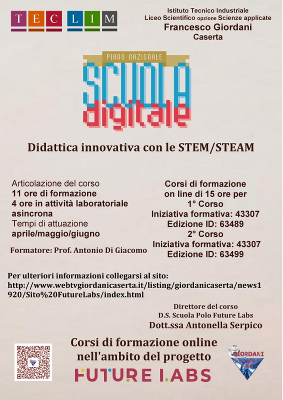 Didattica innovativa con le Stem/Steam
